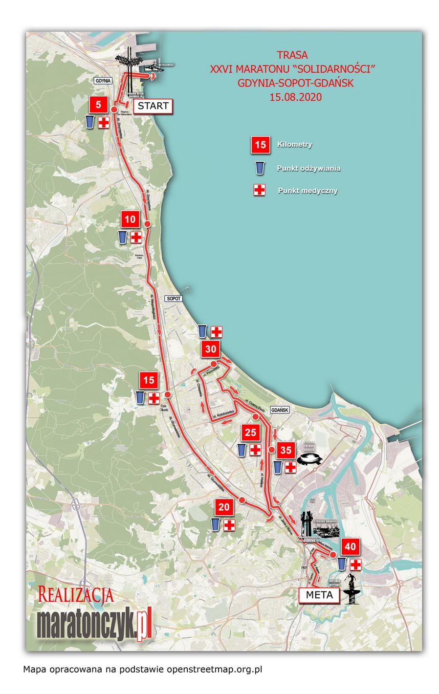 trasa gdansk maraton 2020